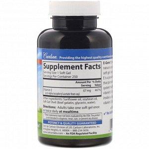 Carlson Labs, E-Gems, 67 mg (100 IU), 250 Softgels