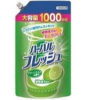 """040719 """"Mitsuei"""" Средство для мытья посуды, овощей и фруктов с ароматом лайма 1000 мл (мэу) 1/10"""