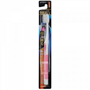 """008201 """"EBISU"""" Зубная щетка (с утонченными кончиками и прорезиненной ручкой. Мягкая), 1/360"""