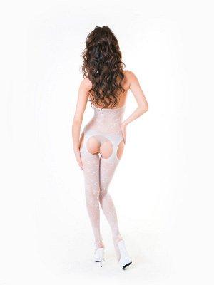 Костюм-сетка Passion Erotic Line, белый, OS