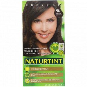 Naturtint, Стойкая краска для волос, 4N, Натуральный каштан, 165 мл (5,6 жидк. унций)