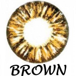 Перекрывающие цветные контактные линзы HERA GLAMOUR Brown -6.5 ВС 8.6 (2 линзы)