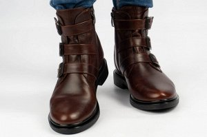 Ботинки Тип: ботинки и ботильоны  Подошва: ТЭП Сезон: демисезон Вид застежки: молния Верх: натуральная кожа Подклад: байка