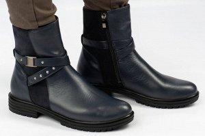 Ботинки Тип: ботинки и ботильоны  Подошва: ТЭП Сезон: демисезон, зима Вид застежки: молния Верх: натуральная кожа Подклад: байка, шерстяной вязаный мех