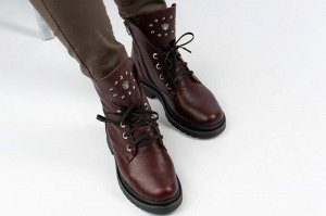 Ботинки Тип: ботинки и ботильоны  Подошва: ТЭП Сезон: демисезон Вид застежки: молния и шнурки Верх: натуральная кожа