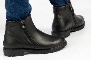 Ботинки Тип: ботинки Подошва: ТЭП Сезон: демисезон, зима Вид застежки: молния Верх: натуральная кожа  Подклад: байка, шерстяной вязаный мех