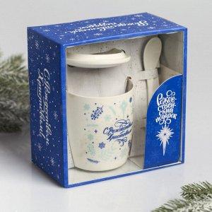 Набор подарочный «С Рождеством Христовым!», 3 предмета: кружка, ложка, крышка