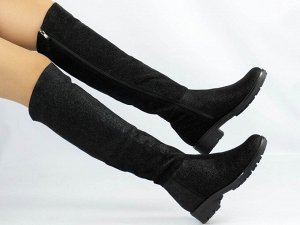 Ботфорты Тип: Ботфорты на худую ногу Материал верха: натуральный велюр Подошва - ТЭП  Байка  Объем голенища 35,5 см в 36/37 размере, 36,5 см в 38/39 размере, 37,5 в 40/41 размере. Объем голенища указа