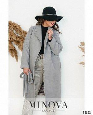 Пальто №135Б-серый