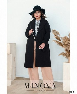 Пальто №135Б-черный