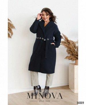Пальто №135Б-синий