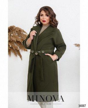 Пальто №135Б-хаки