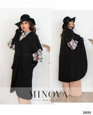 Пальто №134Б-черный