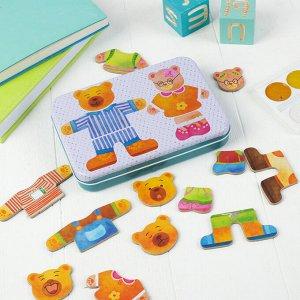 Магнитная игра «Мишки» в железной коробочке