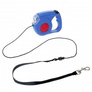Рулетка для собак с фонариком 4,2 м до 40 кг
