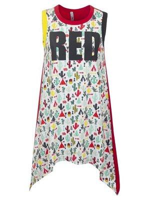 Платье А-силуэта с асимметричным низом