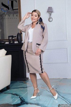 Костюм тройка  52615 (пиджак+юбка+майка)