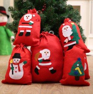Новогодний мешок для декорирования