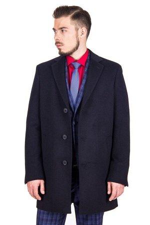 Пальто Модель: М10 Цвет: синий Фактура: однотонная Состав: шерсть-75%, вискоза-15%, полиэстер-10% Артикул: 10503-М10