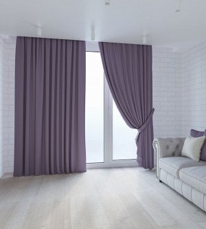 Сирень 2 шторы по 1,5 метра длина 270 см