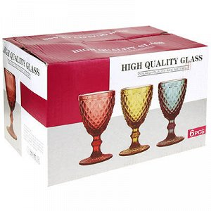 """Виши"" Бокал стеклянный 250мл, д7,9см, h15,3см, для вина, на"