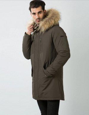 Мужская зимняя куртка Hermzi, цвет Темный хаки