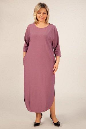 Платье Мона брусничный