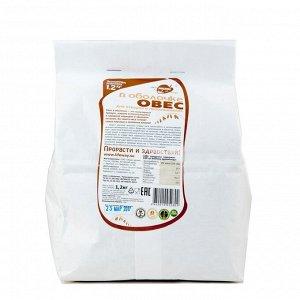 Овёс в оболочке, зерно для проращивания 1,2 кг.