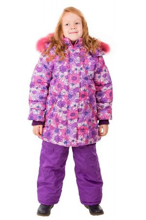 10-0542 Комплект зимний для девочки, синтепон - куртка 300 гр, полукомбинезон 200 гр.