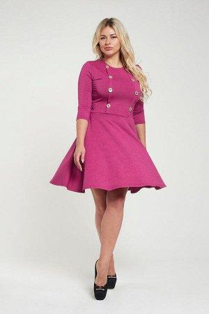 Платье П 525 (меланж лиловый)