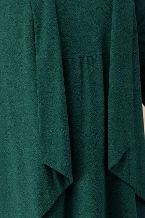 Костюм Костюм Linia-L А-1742 зелень  Состав: Вискоза-80%; ПЭ-16%; Спандекс-4%; Сезон: Осень-Зима Рост: 164  Повседневный трикотажный комплект, состоящий из жилета и платья. Платье в стиле бохо, рукав