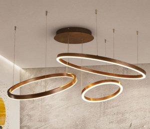 Потолочная люстра Twine / коричневые три круга 60+80+100 см