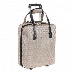 Чемодан Лёгкий чемодан выполнен из полиэстера и предназначен для частого использования. Данный вид ткани обладает высокой прочностью и стойкостью к истиранию. <br/>Размер чемодана подходит для провоза