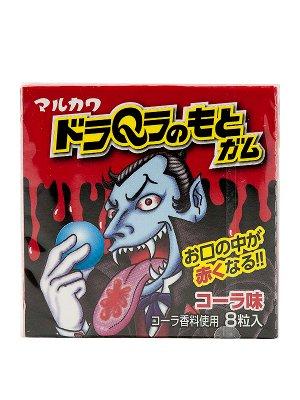 Резинка жевательная Marukawa Дракула Красный (Кола), 8 шаров, 11,1 гр