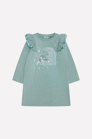 Платье для девочки Crockid КР 5552 серо-зеленый к217