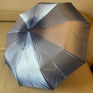 Зонт Цвет купола зависит от условий освещения. Женский зонт в 3 сложения, полный автомат. Модель прочная, надёжная.  Каркас зонта выполнен из 9 спиц, за счет чего зонт имеет хорошую натяжку  купола и
