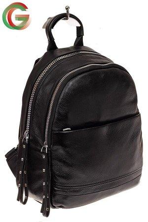 Женский рюкзак из натуральной кожи, цвет черный