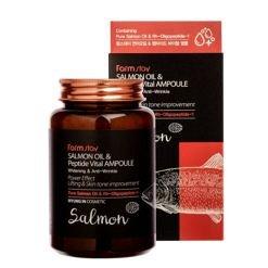 Farm stay Salmon Oil & Peptide Vital Ampoule Ампульная сыворотка для лица с пептидами и маслом лосося 250 мл
