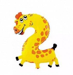 "Надувной шар ""Цифра-2-Жираф"""