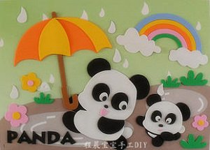 Панды Размер 29*21 см.