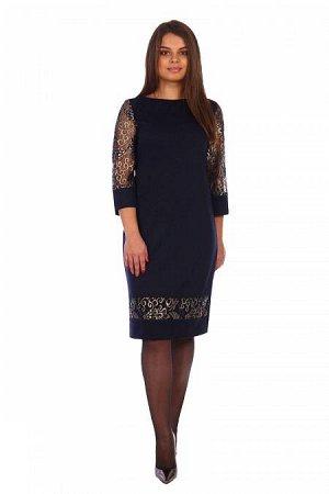 Платье Донсия (2379). Расцветка: темно синее
