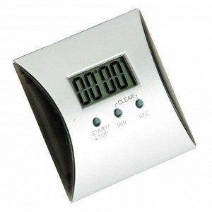 Таймер Dewal NTM007, электронный, квадратный, серебристый