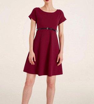 Платье, бордовое