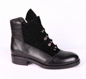 19175-01-1 черный (Нат.кожа/Байка) Ботинки женские