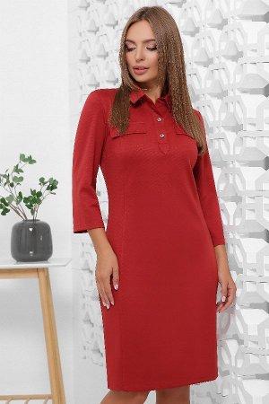 Платье 1844 кирпичный