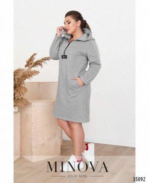 Платье №136-2-серый