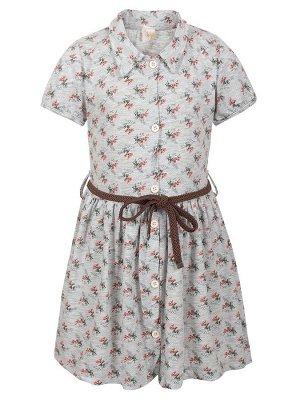 Платье  Цвет:серый меланж