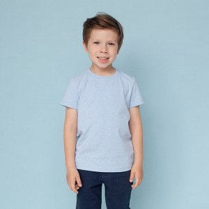 Футболка для мальчика, голубой меланж