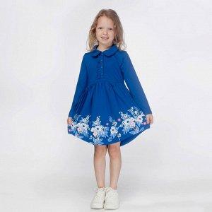 Платье для девочки, синий