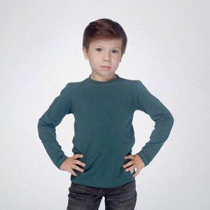 Джемпер для мальчика, т.зелёный